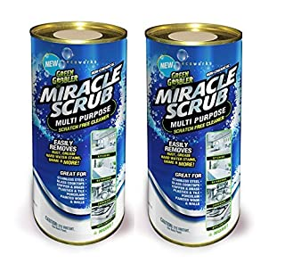 Green Gobbler Miracle Scrub Multi Purpose Powdered Cleaner Easily Removes Rust, Grease, Hard Water Stains, Grime & More! - 2 Pack (B01HFBQNCA) | Amazon price tracker / tracking, Amazon price history charts, Amazon price watches, Amazon price drop alerts