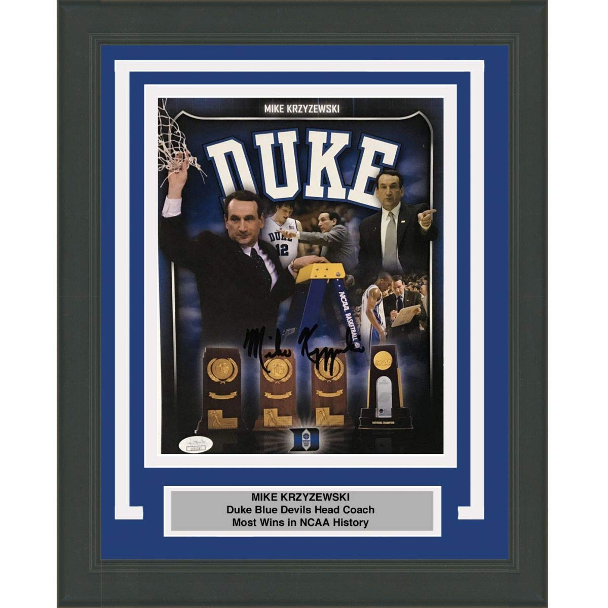 aa1a9ec48e08 Framed Autographed Signed Mike Krzyzewski Coach K Duke Blue Devils 8x10  Basketball Photo JSA COA  2 at Amazon s Sports Collectibles Store