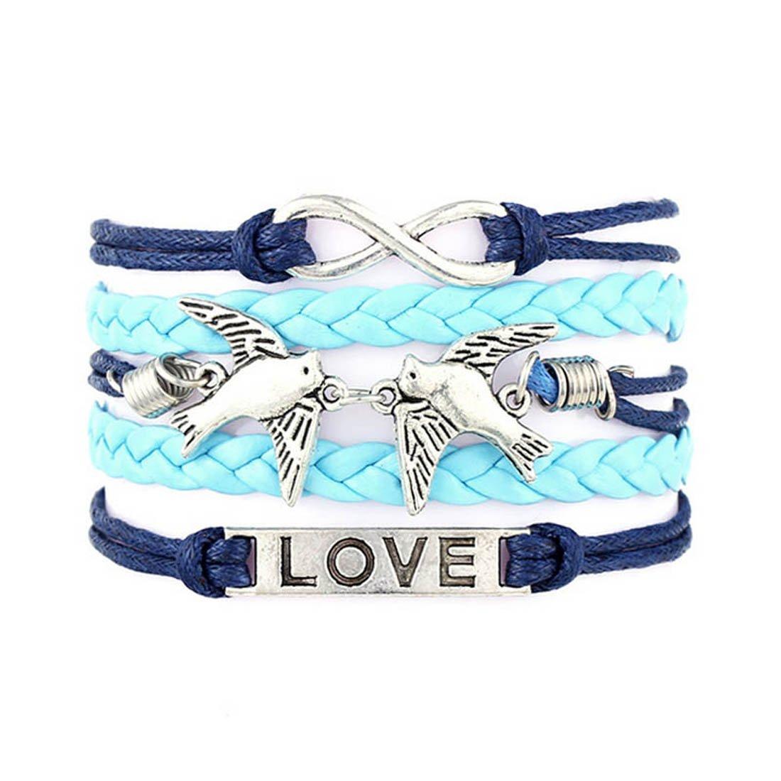 samidy Cute tejido pulsera Nice Love y el amor Significado pulsera ...