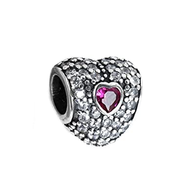 Beads New Authentic 925 Sterling Silver Dazzling Clear My Boo Heart Beads Fit Pandora Charm Bracelet Diy Original Women Jewelry Jewelry & Accessories