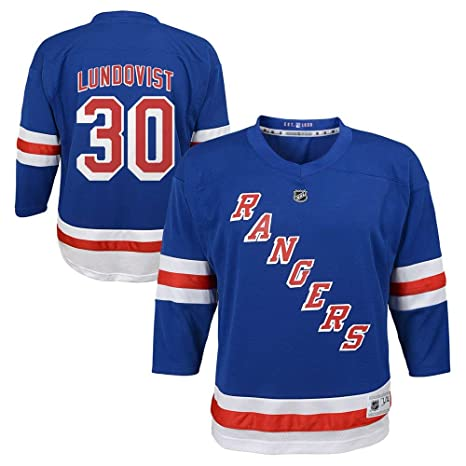 half off fe22d e0a75 Outerstuff Henrik Lundqvist New York Rangers NHL Youth 8-20 Blue Home  Player Jersey