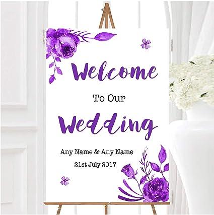 Cadbury - Cartel de bienvenida para boda, diseño de acuarela ...