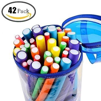 Ohuhu 42-Pack Twist-Flex Rods, Rodillos para el Cabello, Bendy, Conjunto de Rodillos para rizador de Espuma: Amazon.es: Juguetes y juegos