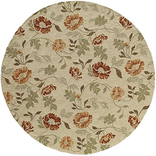 Momeni Veranda Beige Rug - Momeni Rugs  Veranda Collection, Contemporary Indoor & Outdoor Area Rug, Easy to Clean, UV protected & Fade Resistant, 9' Round, Sand