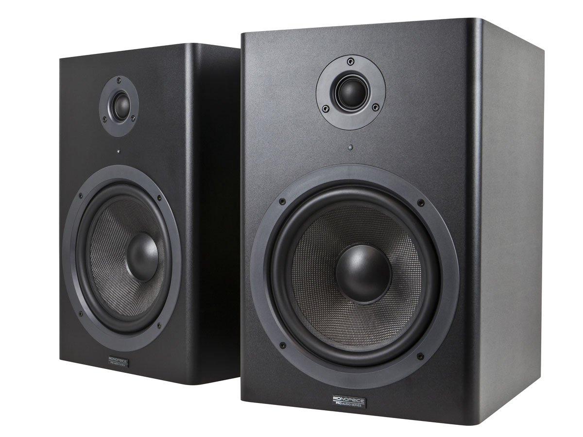 Monoprice Stage Right 8-inch Powered Studio Multimedia Monitor Speakers (pair) - (605800) Monoprice Inc.