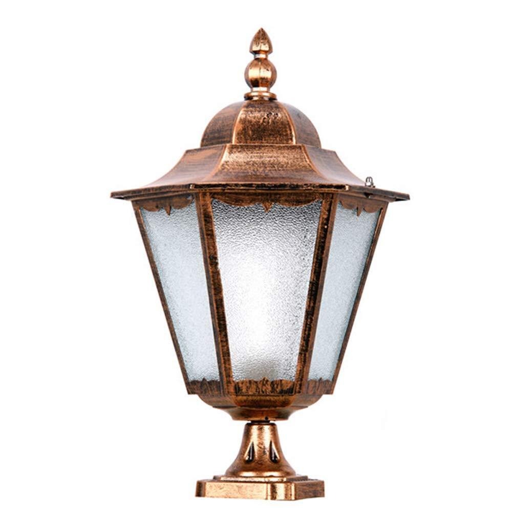 ZHANG NAN ● E27 Outdoor Garden Post Light Wasserdichte Innenleuchte (Farbe  Bronze) ●