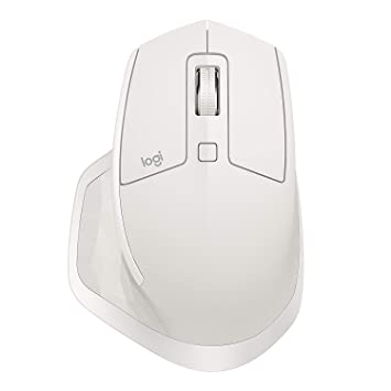 Logitech MX Master 2S Wireless Mouse, Compatible with Apple Mac and Windows  Computers (Bluetooth or USB), Light Grey (Renewed)
