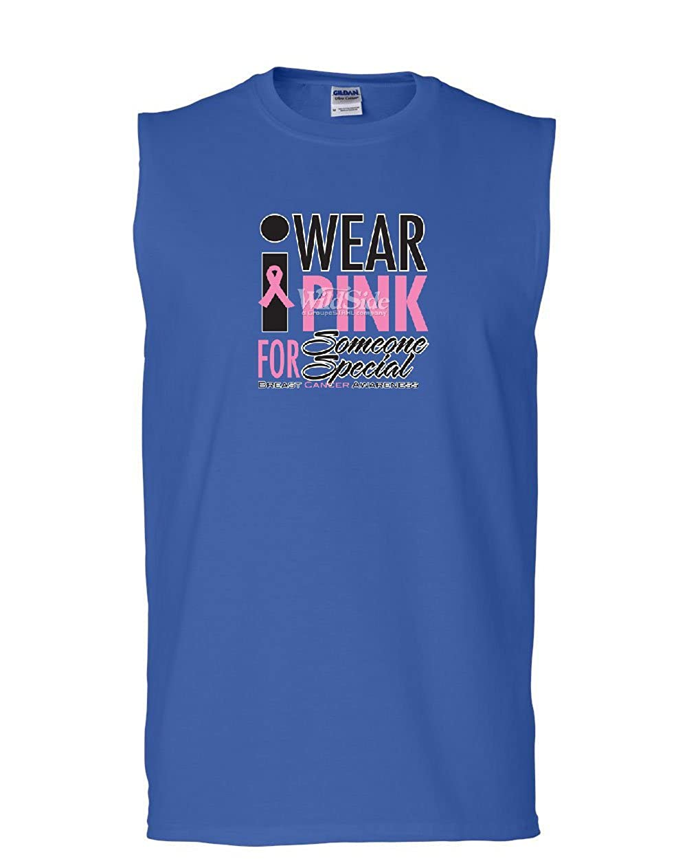 Tee Hunt I Wear Pink for Someone Special Muscle Shirt Breast Cancer Awareness Sleeveless