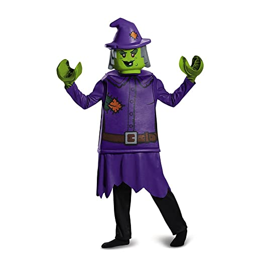 LEGO Witch Deluxe Costume, Purple, Small (4-6)