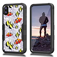 iPhone 8 Case, CASECREATOR[TM] For Apple iPhone 8 (All Carrier)~NATURAL TUFF Hybrid Case BB-Clown Fishes