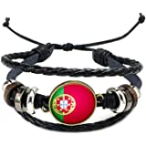 Good01 Russie Coupe du monde de football 2018 – Drapeau national réglable simili cuir bracelet Manchette pour les amateurs de