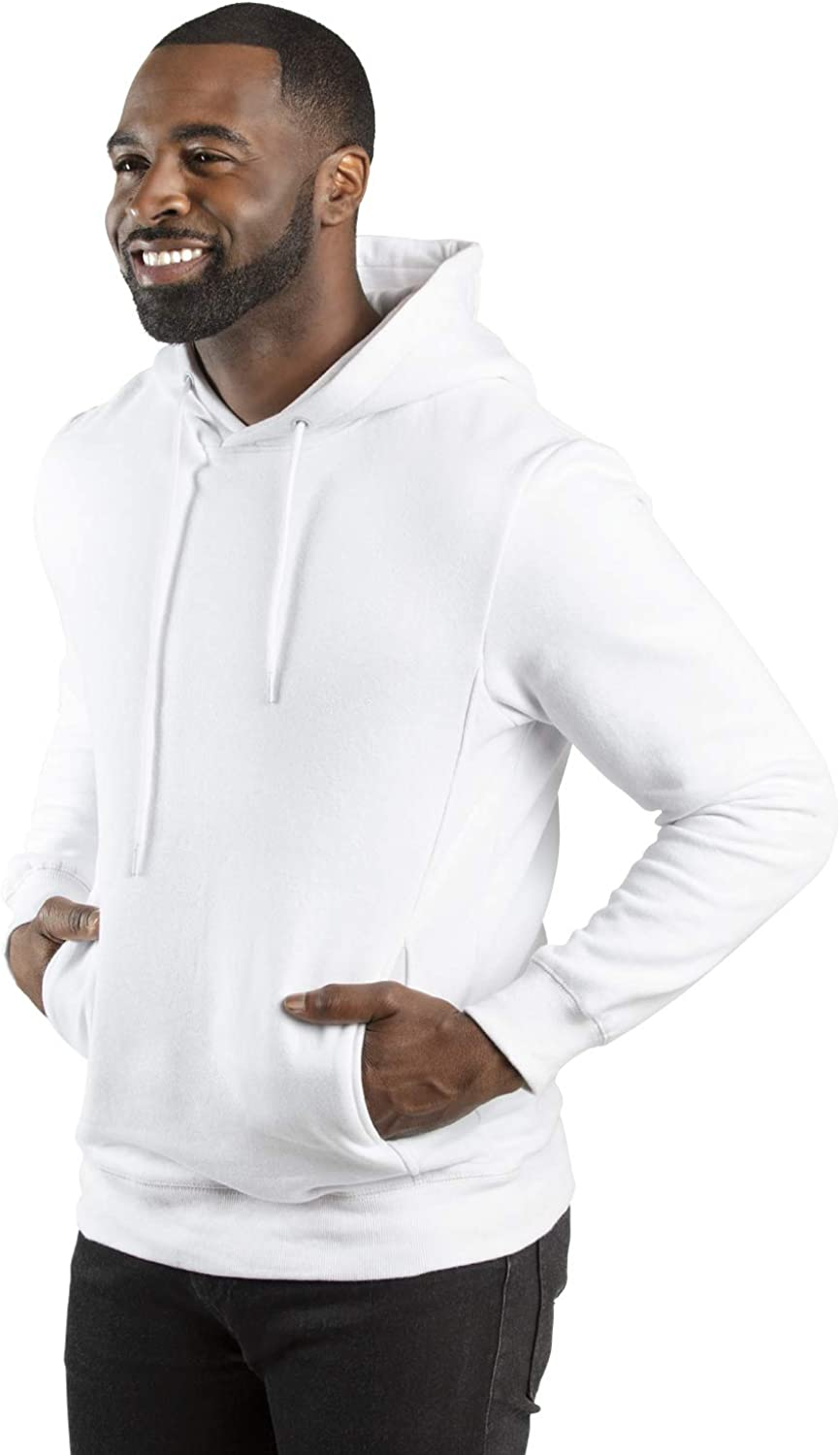 Large White Threadfast Apparel Unisex Fleece Pullover Hooded Sweatshirt
