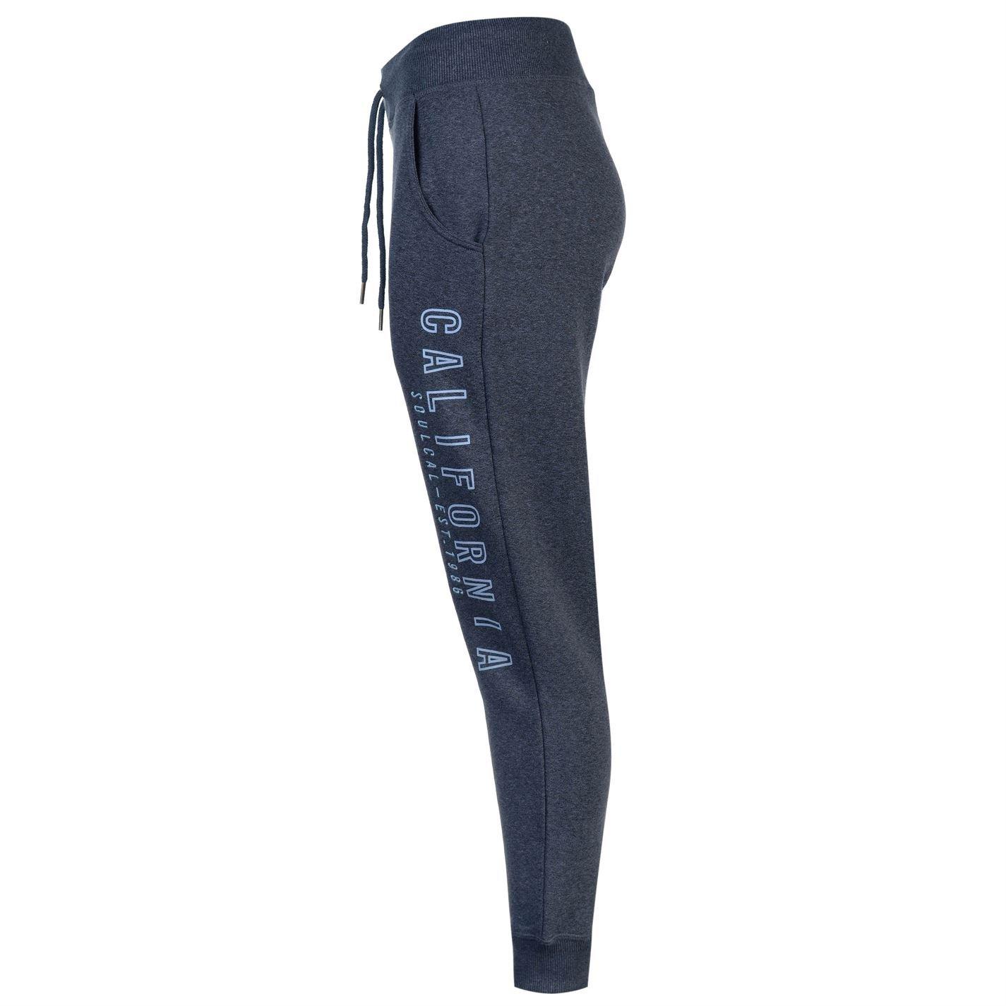 SoulCal Womens Twist Marl Jogging Bottoms Jersey Trousers Pants