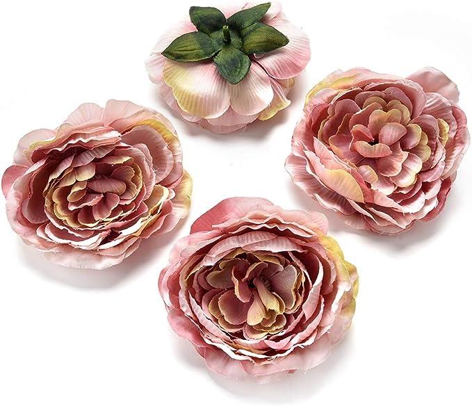NWSXT flores de seda al por mayor al por mayor flores falsas cabezas de clavel artificial hecho a mano decoraci/ón del hogar DIY Evento suministros de fiesta coronas de 30 piezas por lote de 4 cm