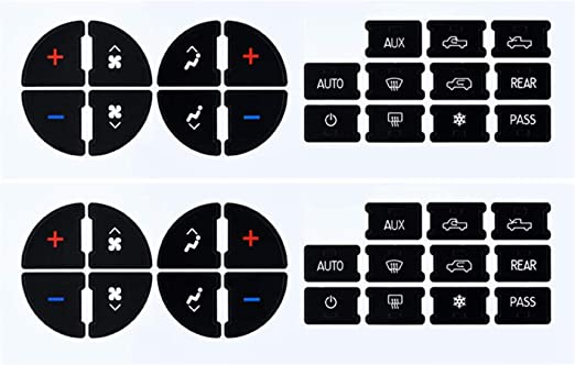 EcoAuto AC Dash Button Repair Kit for Select GM Vehicles - Fix Ruined Faded A/C Controls (Pack of 2) Premium Design & Made in USA