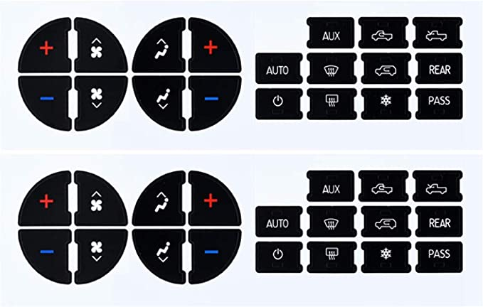 AC Button Repair Kit Decal Stickers Dash Fit 07-13 Chevy GMC 2 Pack Auto Car New