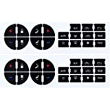 EcoAuto AC Dash Button Repair Kit for Select GM Vehicles - Fix Ruined Faded A/C Controls (Pack of 2) Premium Design…