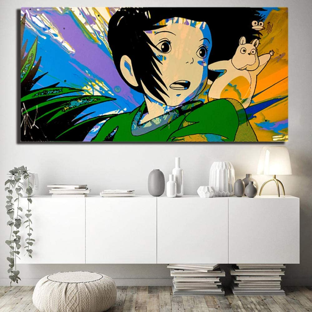 Amazon Com Fenfei Spirited Away Painting Miyazaki Chihiro Posters And Prints Decorative Wall Art Pictures For Living Room Home Kids Room Decor 30cm X60cm No Frame Posters Prints