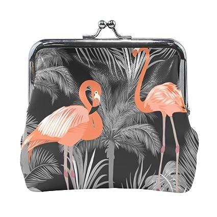 Cartera Gris con diseño de árbol de Flamenco Tropical, para ...