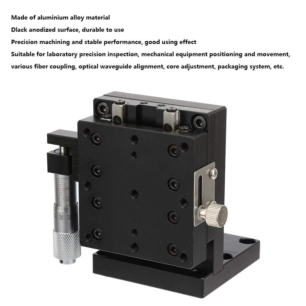 Z Linear Stage 6060mm Micrometer Manual Slide Table Roller Bearing Vertical Linear Stage for Testing Equipment Precision Positioning Movement