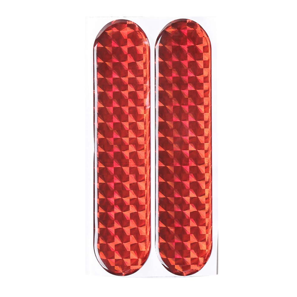 maxgoods 2Pcs Safety Mark Reflective Strips Car Door Sticker Warning Tape Auto Decal Hot