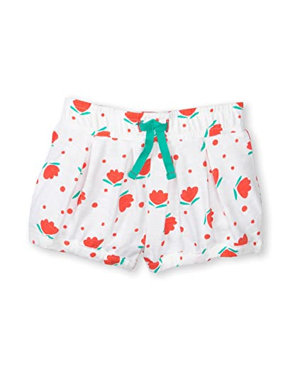 59867e1f5 Colored Organics Baby Girls' Organic Bloomer Shorts - White/Floral Dot Print  - 18
