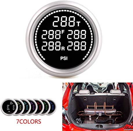 52Mm 7Colors Air Suspension Pressure Gauge With 5*1//8Npt Electronic Sensors #