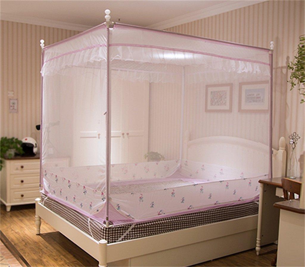 Moskito-Netz-Bett-Überdachungs-Zelt-Vorhänge für Betten Schlafzimmer-freie bewegliche Klammer Innenkampierender Student im Freien wenden an 1.2 / 1.5 / 1.8m / 2m Bett an ( Farbe : B , größe : 2M )