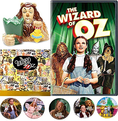 Lion of OZ Story Wonderful Wizard of Oz feature Musical Classic Academy Award Winning Movie & Cowardly Lion Collectible Figurine Salt & Pepper Shaker Bonus Dorothy Toto Tin Man Stickers]()
