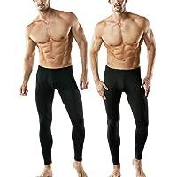 TSLA Men's Thermal Underwear Set, Microfiber Soft Fleece Lined Long Johns, Winter Warm Base Layer Top & Bottom