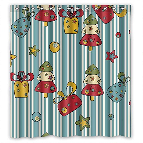 Monadicase Polyester Christmas Bathroom Curtains Width X Height / 66 X 72 Inches / W H 168 By 180 Cm Gift Or Decor For Valentine Kids Girl Kids Gf. Mildew Resistant - Fabric