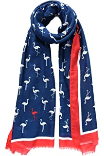 690ca5b2ddd83 Style Slice Flamingo Sarongs for Women Beachwear - Sarong Cover Ups -  Yellow Navy Blue Pink Green - Plus Size…