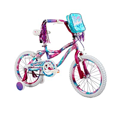 "Your Little Girl is Going to Love Riding Around With Adorable, Sturdy and Super Safe to Ride 18"" Girls Sweetheart Bike, With Handlebar Bag, Adjustable and Removable Training Wheels, Unique, Multicolor : Sports & Outdoors"