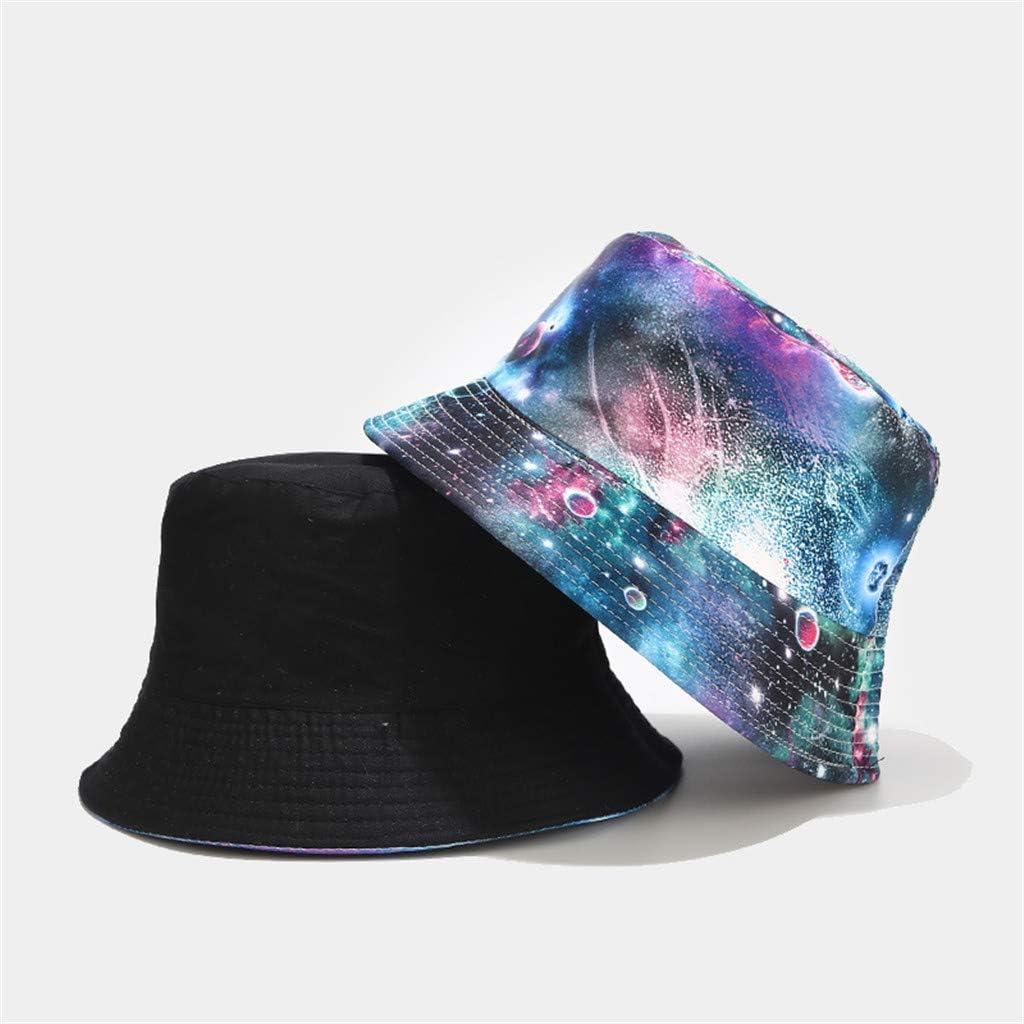 Unisex Women Men Summer Beach Hat Tie Dye Printed Bucket Hat Sun Hat Wear On Both Sides Cap Outdoor Fisherman Flat Cap