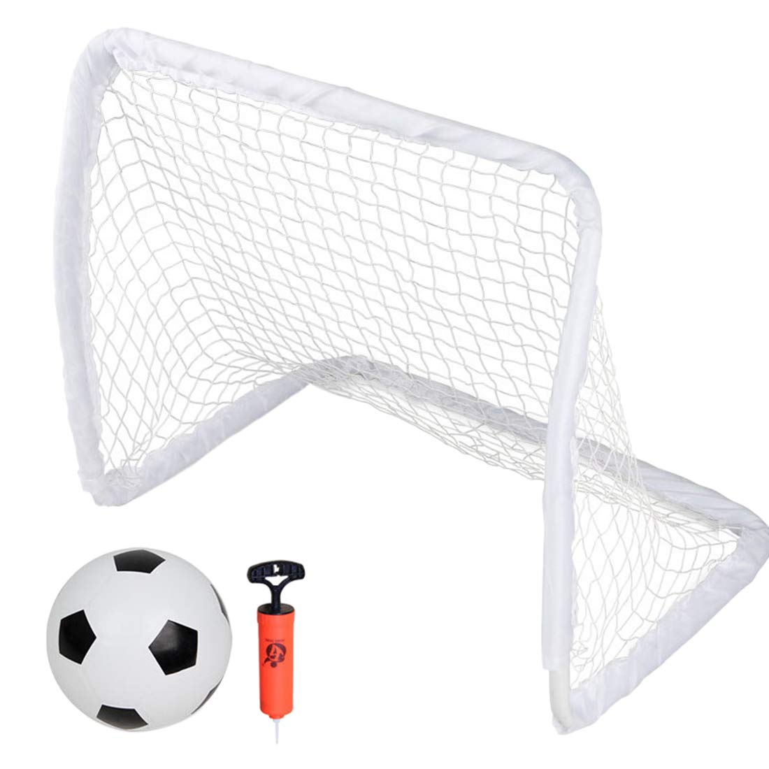 Yamix Kids Soccer Goal with Ball & Pump - Portable Soccer Goal and Net - Indoor or Outdoor Soccer Goal for Kids - 24.4'' x 21.7'' x 14.9'' by Yamix