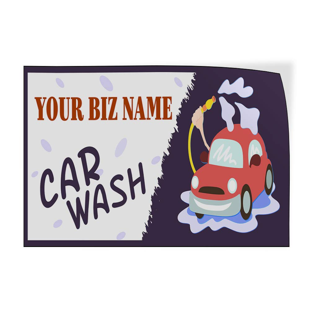 Custom Door Decals Vinyl Stickers Multiple Sizes Business Name Car Wash Automotive Car Outdoor Luggage /& Bumper Stickers for Cars Red 54X36Inches Set of 5