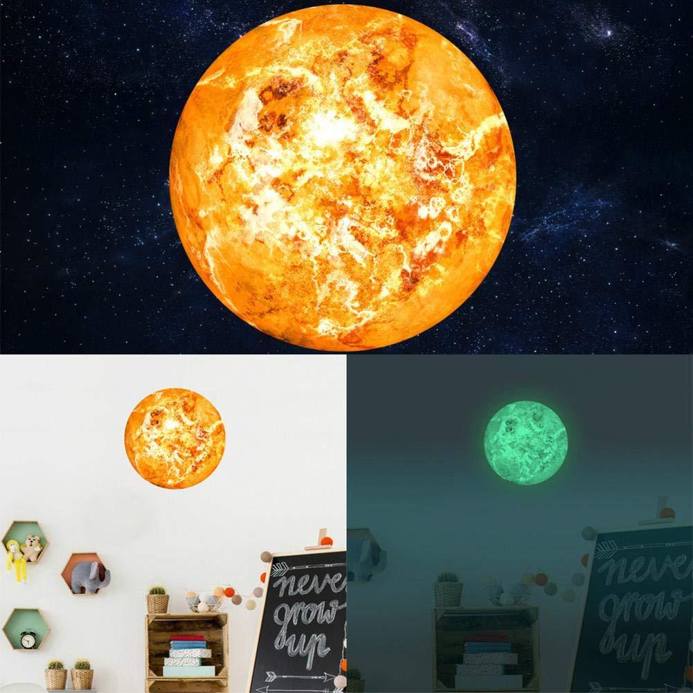 PROKTH Sticker geant mural Sticker mural cuisine Stickers salle bain Decoration chambre pour enfants Stickers fluorescents Phosphorescent La lune Soleil 1psc