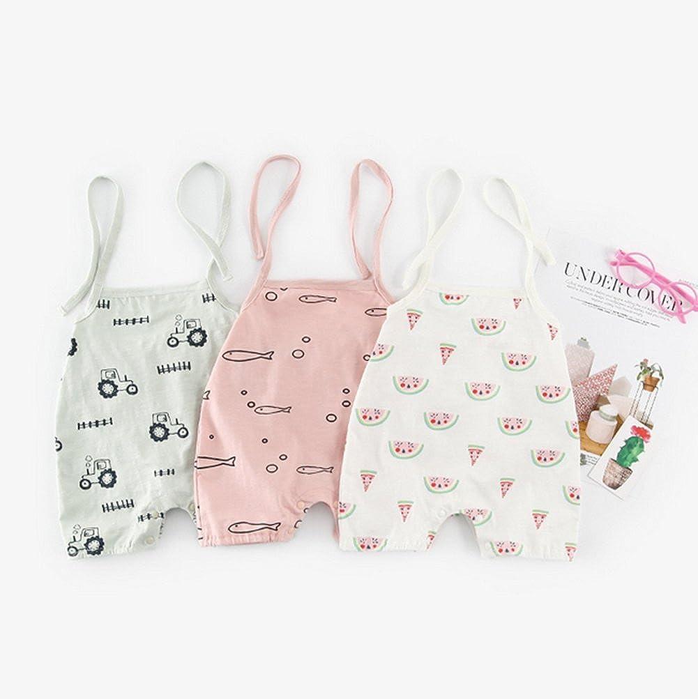 NOMSOCR Infant Baby Boys Girls Summer One-Pieces Halter Romper Jumpsuit Bodysuit Outfits Clothes 0-24 Months
