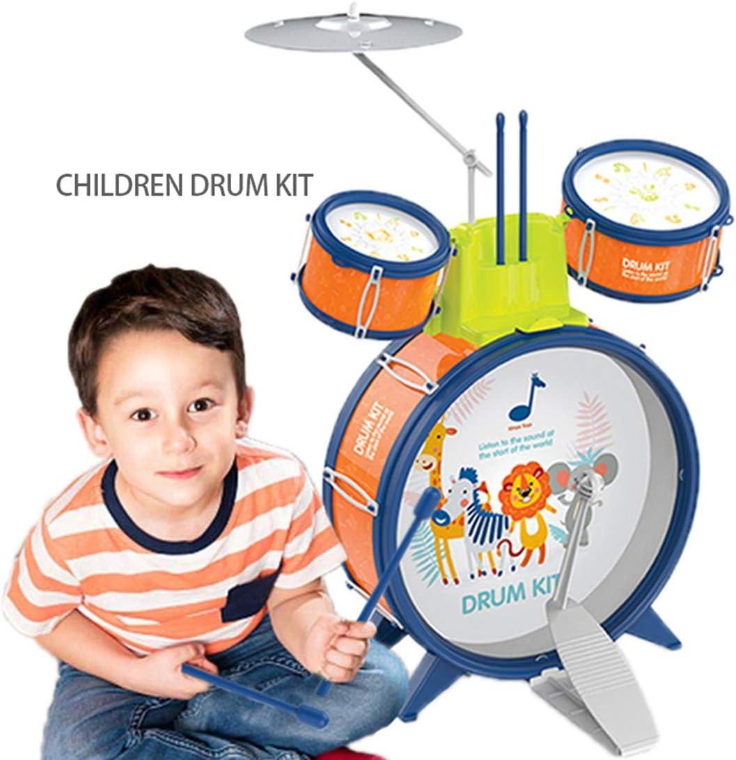 ColiCor Tambour de Jazz Kit de Batterie Jazz avec Motif de Dessin Anim/é Jouet Instrument Early Education Jouets pour Enfant M