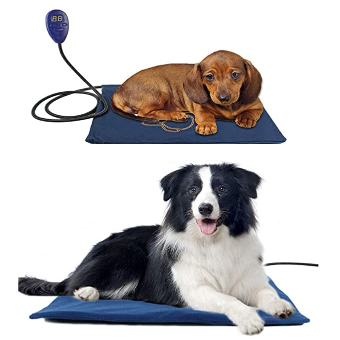 0 ℃ Outdoor Mascota de Calor Pad Calentador, Animal doméstico eléctrico de Perro de Perrito del Calentador Estera de la Cama 7 Grado de Control de ...