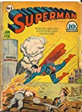 Superman #8 Golden Age Superman DC no back cover
