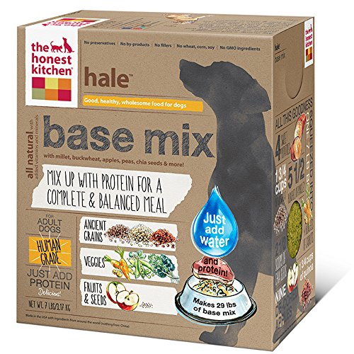 The Honest Kitchen Hale Organic Whole Grain Base Mix - Natural Human Grade Dehydrated Dog Food Just Add Protein, 7 lbs (Makes 29 lbs)
