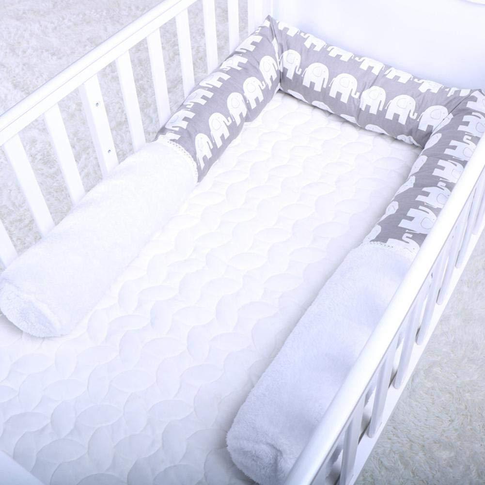 Baby Bumper Snake Cute Cartoon Style Morbido lettino per bambini Letto sicurezza Collision Barrier Letto in cotone Sleep Bumper Adatto per neonati e bambini piccoli