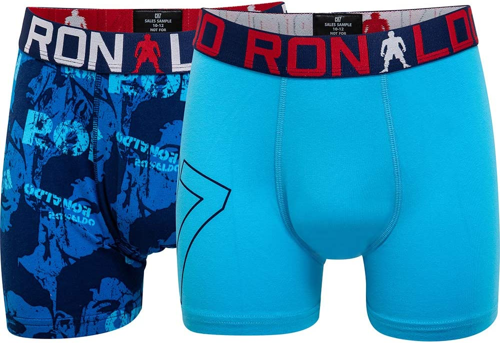 CR7 Cristiano Ronaldo Boys Tight Boxer Shorts Line Trunk Pack of 2