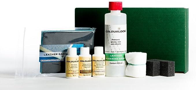 COLOURLOCK - Kit reparador de color para volante de piel, para reparar volantes de coche dañados con alcohol para limpieza, limpiador para piel, tinte ...