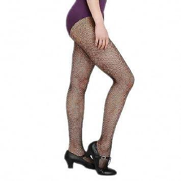 97a0417fa4b4 Womens Fishnet Latin Panty-hose Dance Leggings Seamless Stockings Black S/M