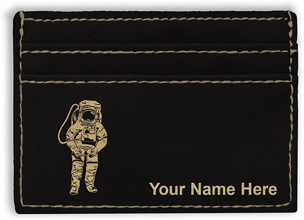 Personalized Engraving Included Money Clip Wallet Astronaut