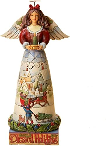 Jim Shore Blessed Be the Merry of Heart Blessed Holidays Angel Figurine