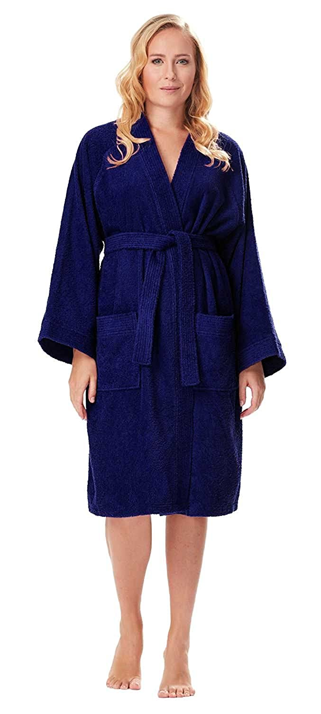 Arus - Albornoz de mujer Archee, 100% algodón, corta de estilo kimono: Amazon.es: Ropa y accesorios
