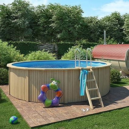 animalmarketonline Jardín Herramientas piscinas y accesorios piscina de madera Cooper con pared de acero con sistema